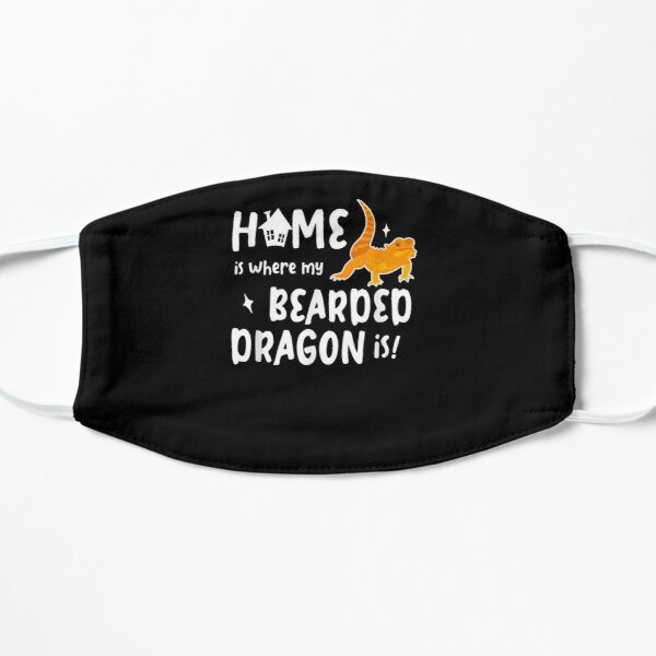 Home Where My Bearded Dragon Gifts For Bearded Dragon Lovers  Flat Mask