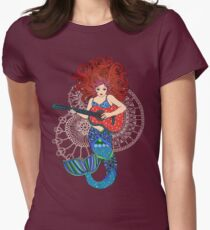 Musical Mermaid Womens Fitted T-Shirt