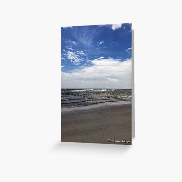 Tybee Island Beach Greeting Card