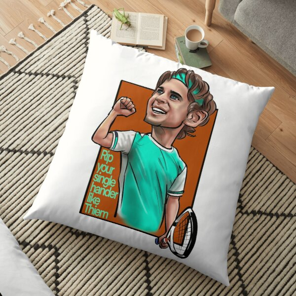 Caricature of the Stars - Tennis Pro - Dominic Thiem Floor Pillow