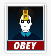 Jiangshi-Obey Sticker