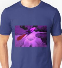 A Cruiser Interceptor on Patrol in the Purple Galaxy. Unisex T-Shirt