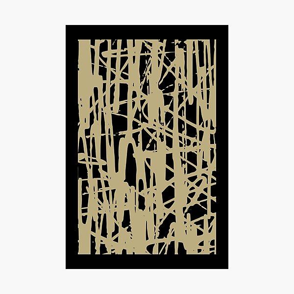 Mid Century Modern Art - scribble Art Photographic Print