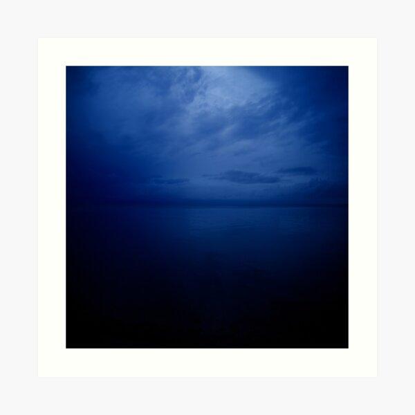 dreaming in blue Art Print