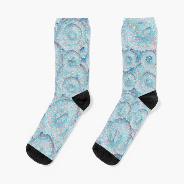 MishManners donut pattern Socks