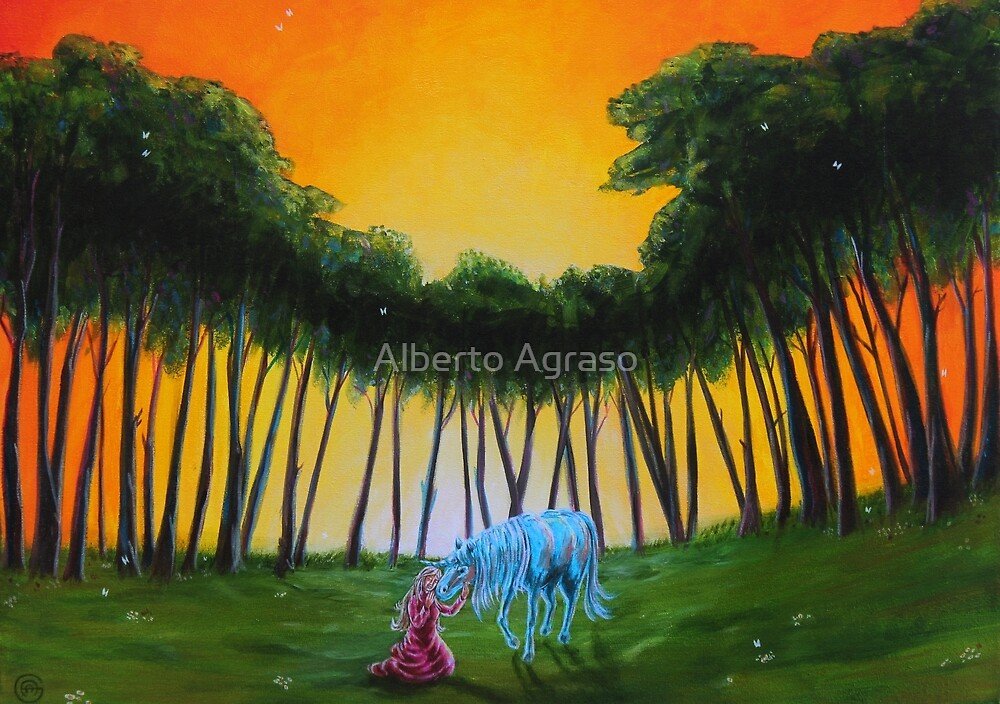 Lady and the Unicorn  by Alberto Agraso