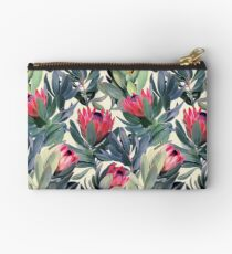Painted Protea Pattern Studio Pouch