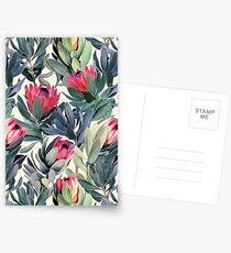 Painted Protea Pattern Postcards