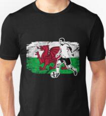 Soccer - Fußball - Wales Flag Unisex T-Shirt