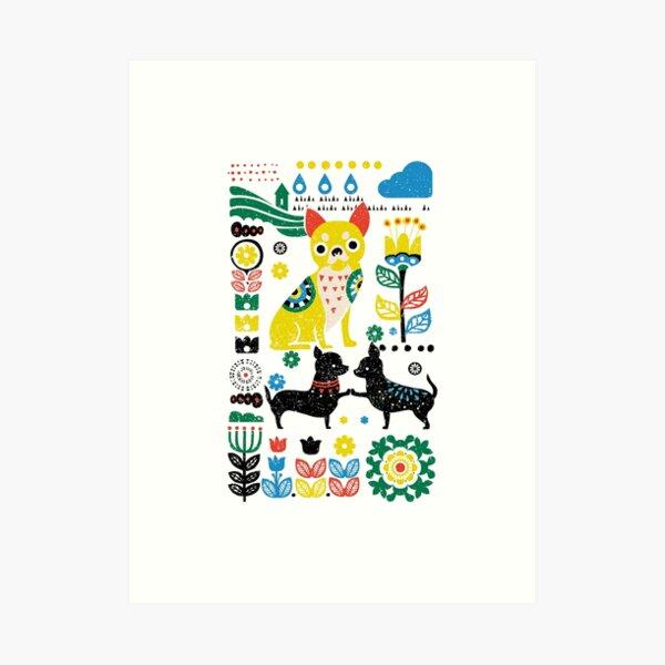 Scandinavian Chihuahua  Art Print