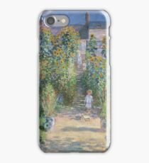 Claude Monet - The Artists Garden at Vetheuil  iPhone Case/Skin