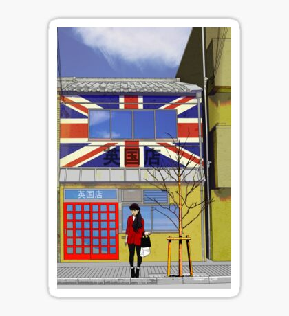 british shop Sticker