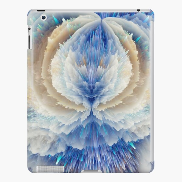 Blue abstract floral art  iPad Snap Case