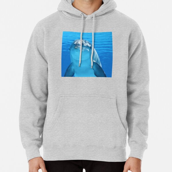 Hello Dolphin Pullover Hoodie