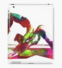 Couple yoga watercolour art iPad Case/Skin