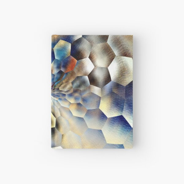 Blue abstract floral art  Hardcover Journal