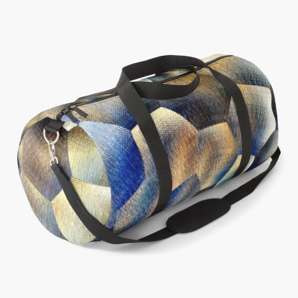 Blue abstract floral art  Duffle Bag