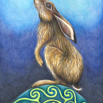 Moonstruck Hare by Flyttamouse