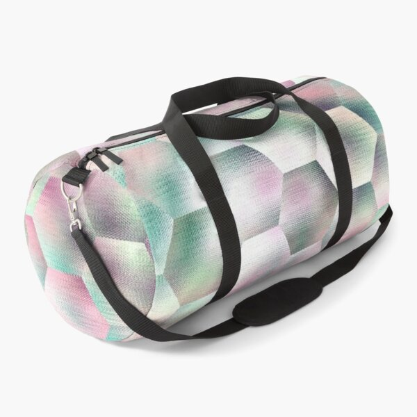 Shabby chic abstract pink and grey Duffle Bag
