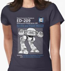 ED-209 Service and Repair Manual Women's Fitted T-Shirt