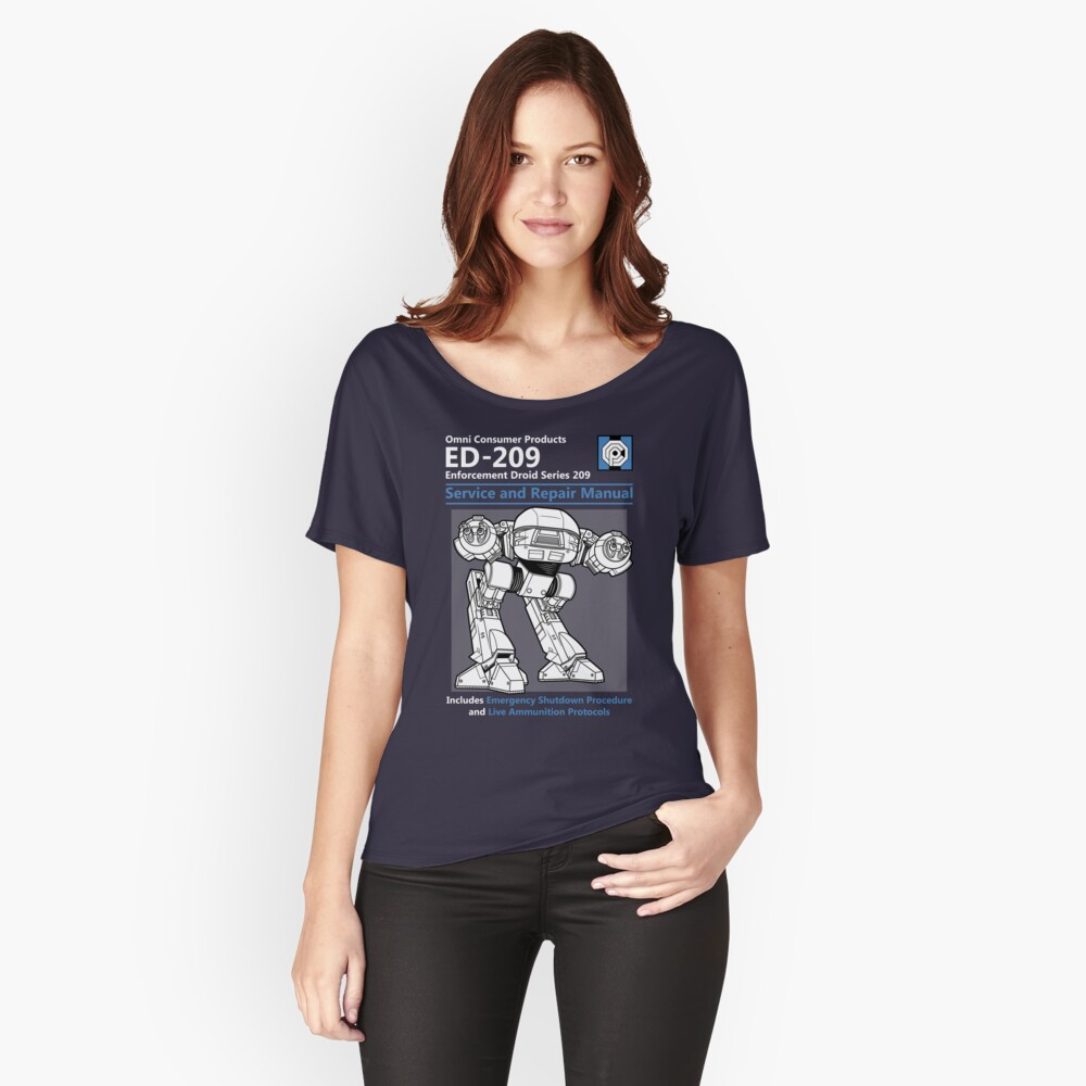 ED-209 Service and Repair Manual Women's Relaxed Fit T-Shirt Front