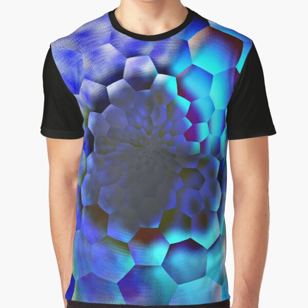 Blue abstract geometric art  Graphic T-Shirt