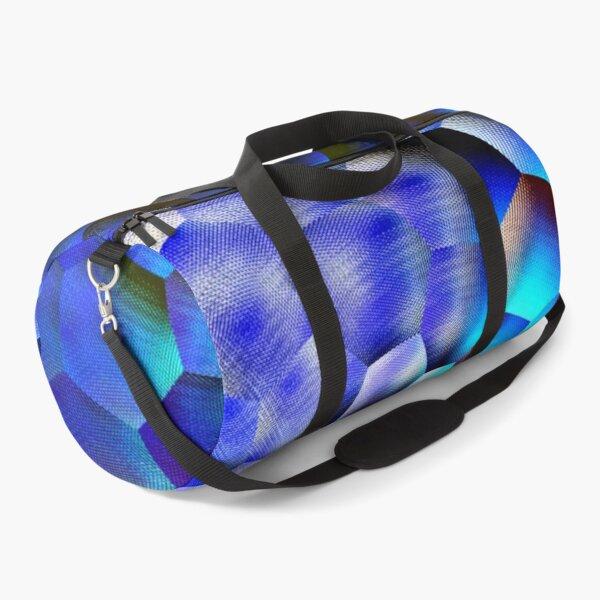 Blue abstract geometric art  Duffle Bag