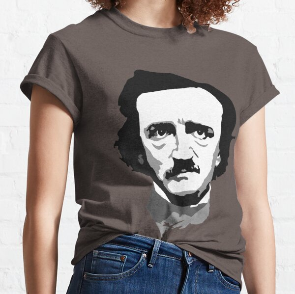 Edgar Allan Poe - Solo cabeza Camiseta clásica
