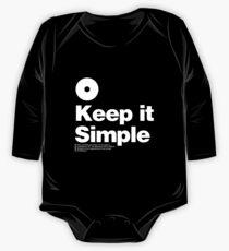 Keep it Simple Long Sleeve Baby One-Piece