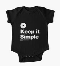 Keep it Simple Short Sleeve Baby One-Piece