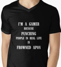 Let us game! Men's V-Neck T-Shirt