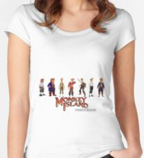 Monkey Island Guybrush - Puberty Edition  Women's Fitted Scoop T-Shirt
