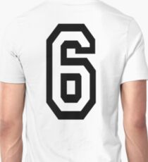 6, TEAM, SPORTS, NUMBER 6, SIX, SIXTH, Competition T-Shirt