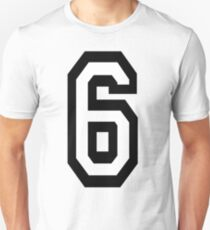 6, TEAM, SPORTS, NUMBER 6, SIX, SIXTH, Competition Slim Fit T-Shirt