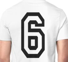 6, TEAM SPORTS, NUMBER 6, SIX, SIXTH, Competition Unisex T-Shirt