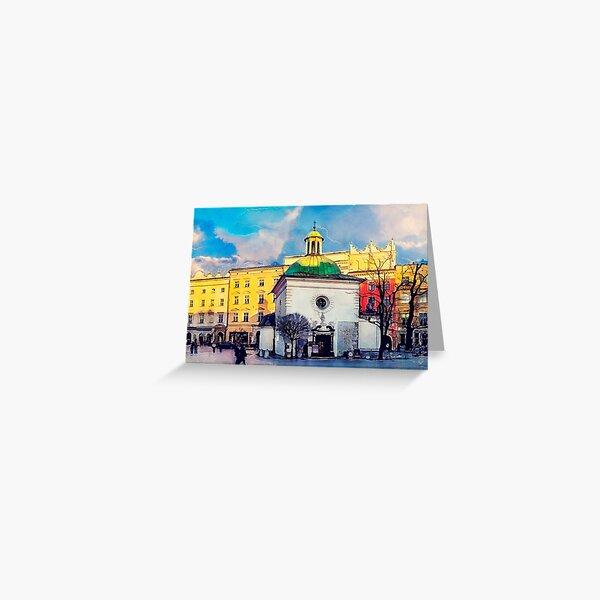 Cracow Church of St. Wojciech Greeting Card
