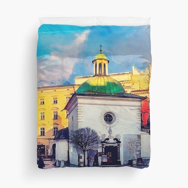 Cracow Church of St. Wojciech Duvet Cover