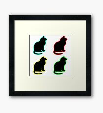 Glow Cats Framed Print
