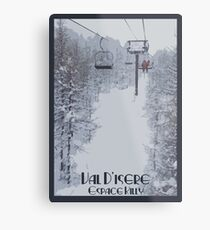 Val d'Isere Chairlift Metal Print