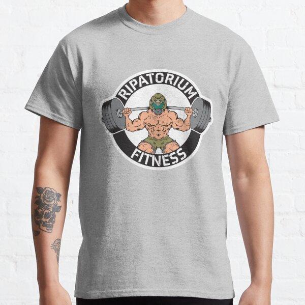 FITNESS RIPATORIUM (DOOM Slayer Gym) Camiseta clásica