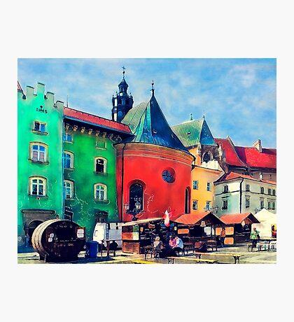 Cracow city art Photographic Print