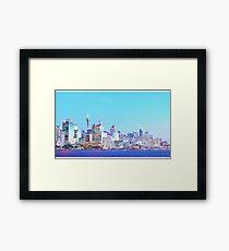 Sydney City CBD Vaporwave Landscape Framed Print