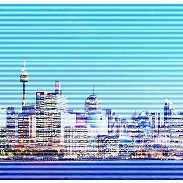 Sydney City CBD Vaporwave Landscape de tommy2shots
