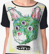 Psych Kitty Chiffon Top
