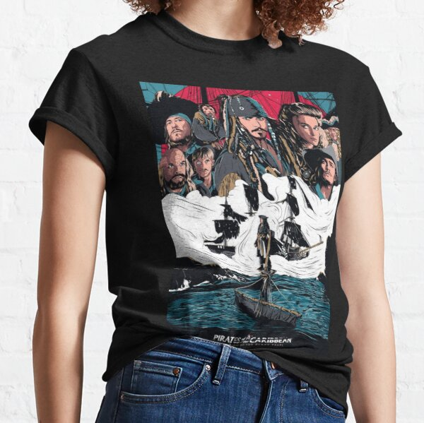 Pirates of the Caribbean the curse of the Black Pearl  Classic T-Shirt