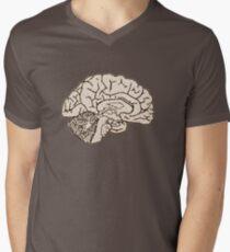 hemisected brain Men's V-Neck T-Shirt