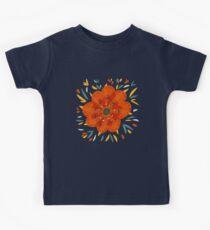 Whimsical Decorative Orange Flower Kids Clothes