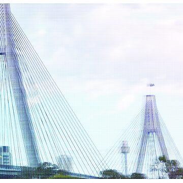 Sydney Anzac Bridge Vaporwave Landscape de tommy2shots
