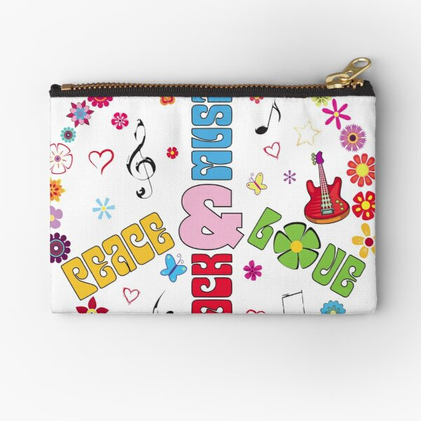 Peace and Love Zipper Pouch
