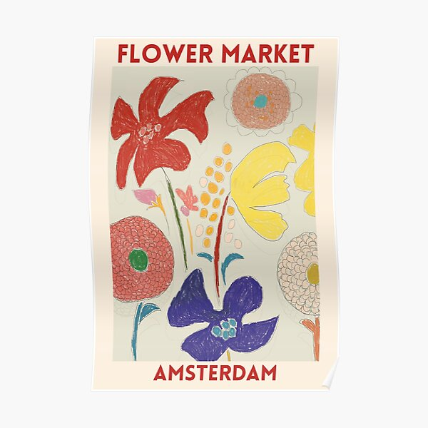 Flower Market - Amsterdams Poster